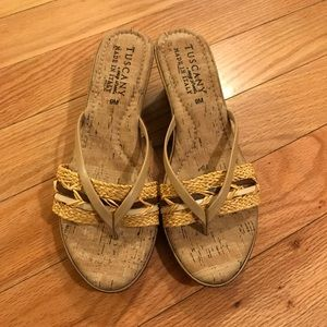 Tuscany By Easy Street Basket Weave Sandals